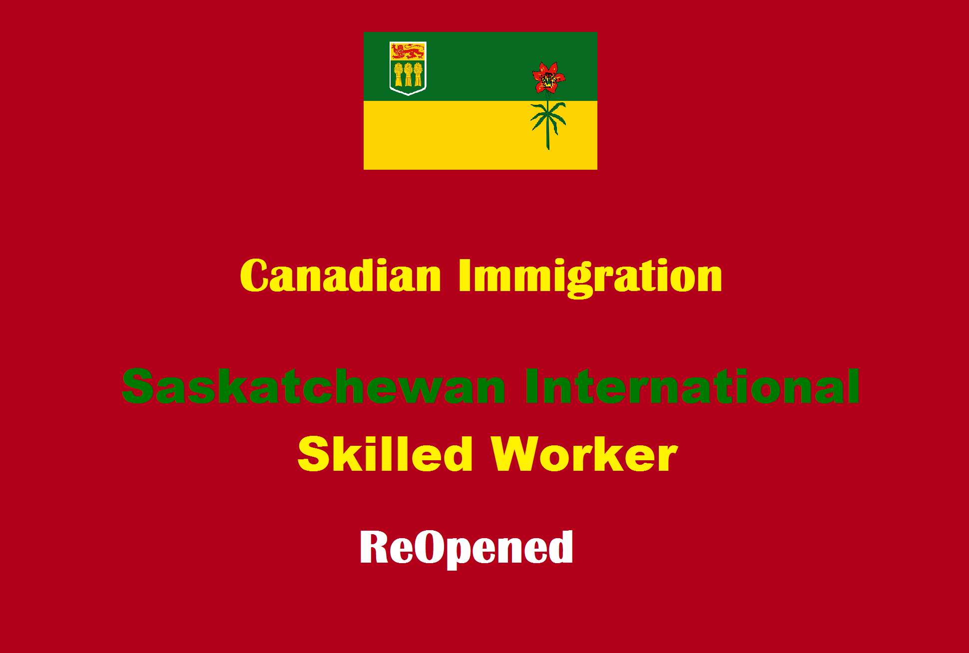 Saskatchewan International Skilled Worker Express Entry