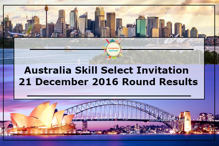 Australia Skill Select Invitation: 21 December 2016 Round Results