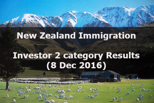 New Zealand Residence Programme – Investor 2 category Results (8 Dec 2016)