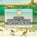 Australia Skill Select Invitation 12 April 2017 Round Results