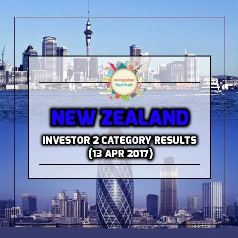 New Zealand Residence Programme Investor 2 category Results (13 Apr 2017)