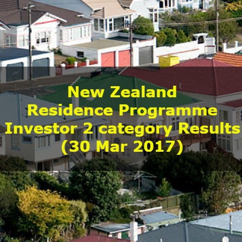 New Zealand Residence Programme – Investor 2 category Results (30 Mar 2017)