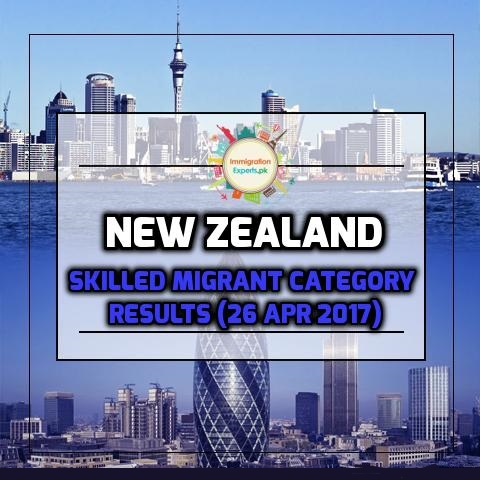 New Zealand Skilled Migrant Category Results (26 Apr 2017)