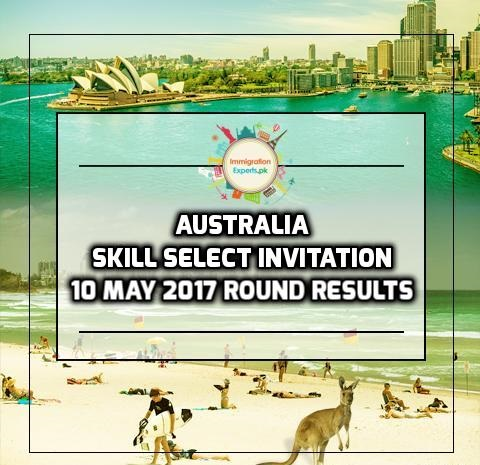 Australia Skill Select Invitation: 10 May 2017 Round Results