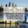 May 17, 2017, Express Entry Draw Exhibits Joint-Lowest CRS Score at 415