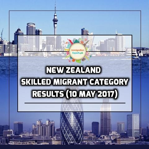 New Zealand Residence Programme – Skilled Migrant Category Results (10 May 2017)