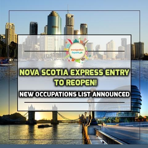 Nova Scotia Express Entry to Reopen! New Occupations List Announced