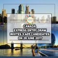 Canada Express Entry Draw Invites 3,409 Candidates On 28 June 2017