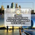 Canada Express Entry Draw Invites 3,202 Candidates On 12 July 2017