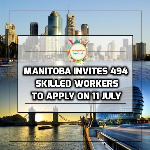 Canada - Manitoba Invites 494 Skilled Workers to Apply On 11 July