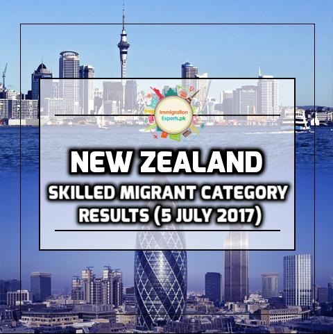 New Zealand Skilled Migrant Category Results (5 July 2017)