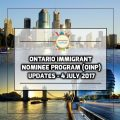 Ontario Immigrant Nominee Program (OINP) Updates - 4 July 2017
