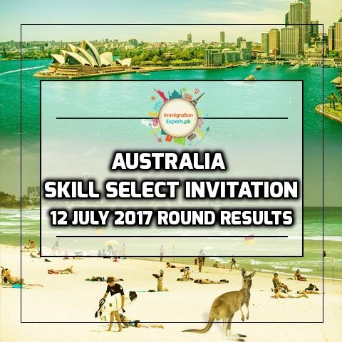 Australia Skill Select Invitation 12 July 2017 Round Results