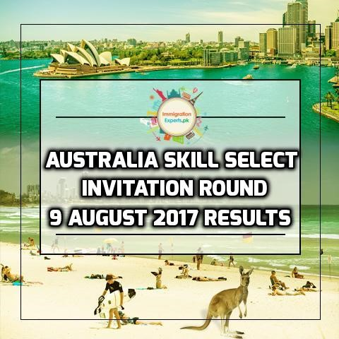 Australia Skill Select Invitation - 9 August 2017 Round Results
