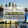 British Columbia Immigration Draw Results - 29 July 2017