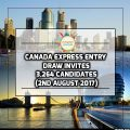 Canada Express Entry Draw invites 3,264 Candidates On 2 August 2017