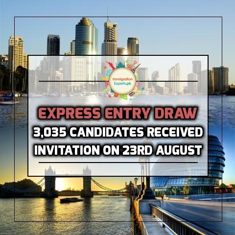 Express Entry Draw - 3,035 Candidates Received Invitation On 23rd August
