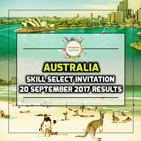 Australia Skill Select Invitation - 20 September 2017 Round Results