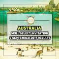 Australia Skill Select Invitation - 6 September 2017 Round Results