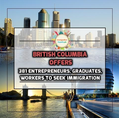 British Columbia Offers 381 Entrepreneurs, Graduates and Workers to seek Immigration