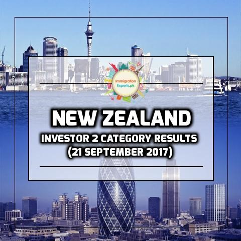 New Zealand Residence Programme – Investor 2 category Results (21 September 2017)