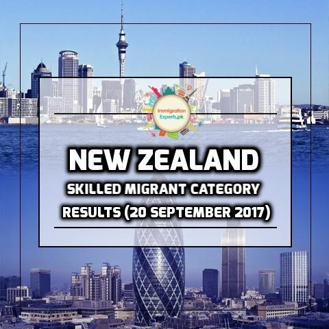 New Zealand Residence Programme – Skilled Migrant Category Results (20 September 2017)