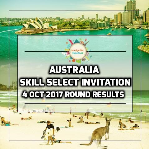 Australia Skill Select Invitation - 4 October 2017 Round Results