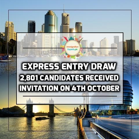 Express Entry Draw - 2,801 Candidates Received Invitation On 4th October