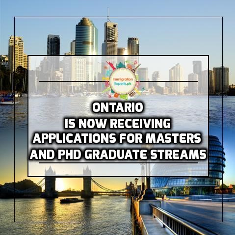 Ontario is Now Receiving Applications for Masters and PhD Graduate Streams