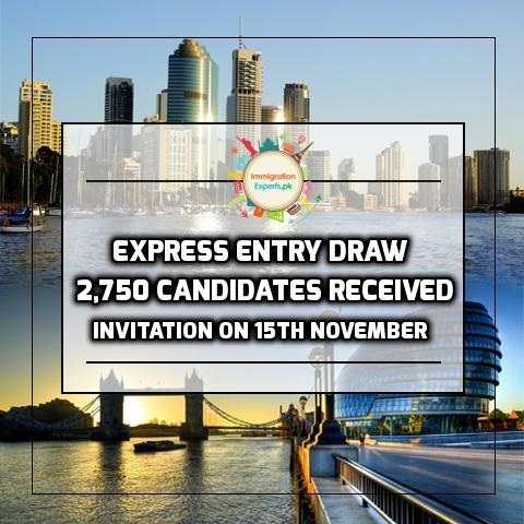Express Entry Draw - 2,750 Candidates Received Invitation On 15th November