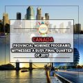 Canada's Provincial Nominee Programs Witnessed a Busy Final Quarter of 2017