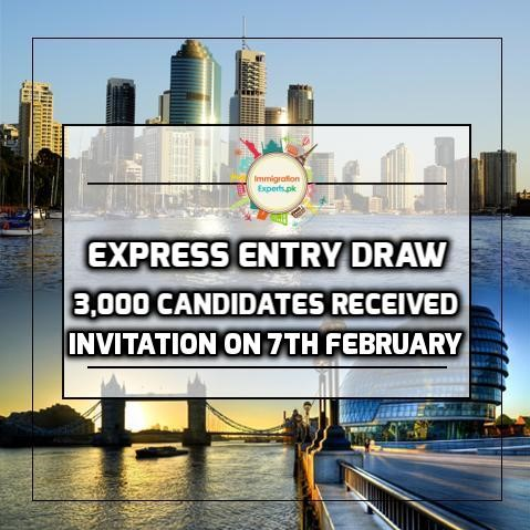 Express Entry Draw - 3,000 Candidates Received Invitation On 7th February