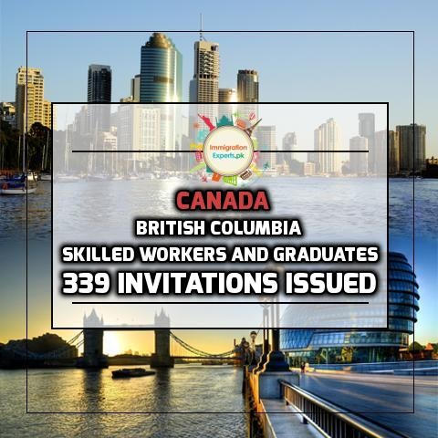 British Columbia Sends Invitations to 339 Skilled workers and Graduates Through its Latest Draws