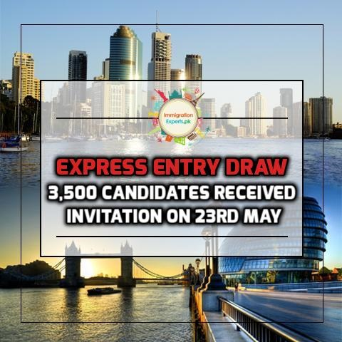 Express Entry Draw - 3,500 Candidates Received Invitation On 23rd May