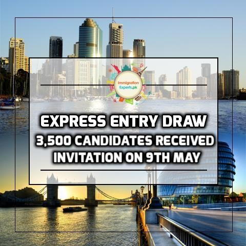 Express Entry Draw - 3,500 Candidates Received Invitation On 9th May