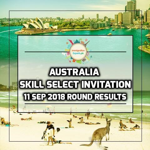 Australia Skill Select Invitation - 11 September 2018 Round Results