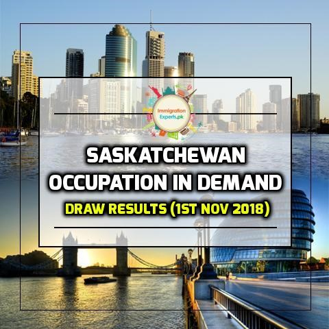 Saskatchewan Draw under Occupation In-Demand Category (November 1st, 2018)